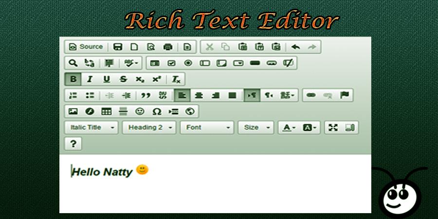 Rich Text Editor for Vtiger